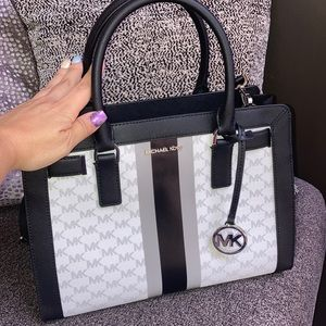 Michael Kors Dillon Center Stripe Satchel